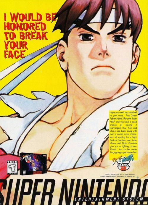 Street Fighter Alpha 2 advert.