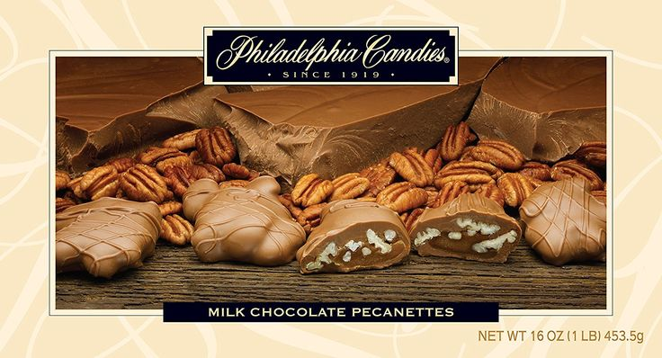 Philadelphia Candies Milk Chocolate Pecanettes (Caramel Pecan Clusters) * Check out this great image @ : Amazon fresh