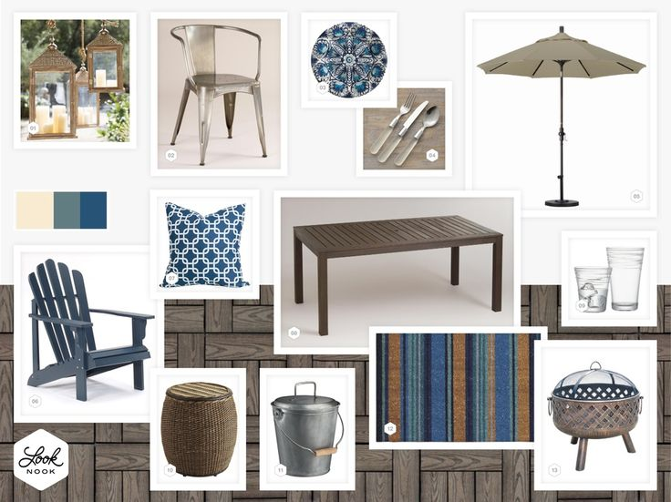 Mediterranean style, traditional and modern patio.  Adirondack chairs are my favorite for outdoor lounging. / / www.LookNook.co
