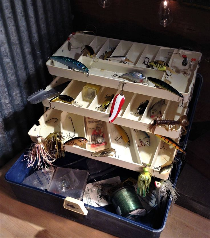 Vintage Tackle Box Filled w/ Fishing Lures, 3 Tier Old Pal Tacklebox, Lures, Bait and Tackle, Crankbait, Spinners, Chatterbait, Supplies +