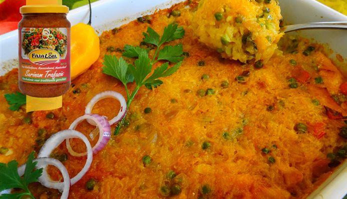 Surinaams eten – Pom Originele (origineel Surinams-Joods ovengerecht)