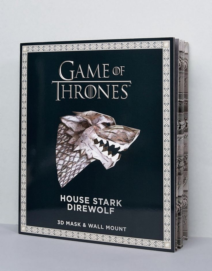 Game of Thrones House of Stark Direwolf Mask and Wall Mount - Multi