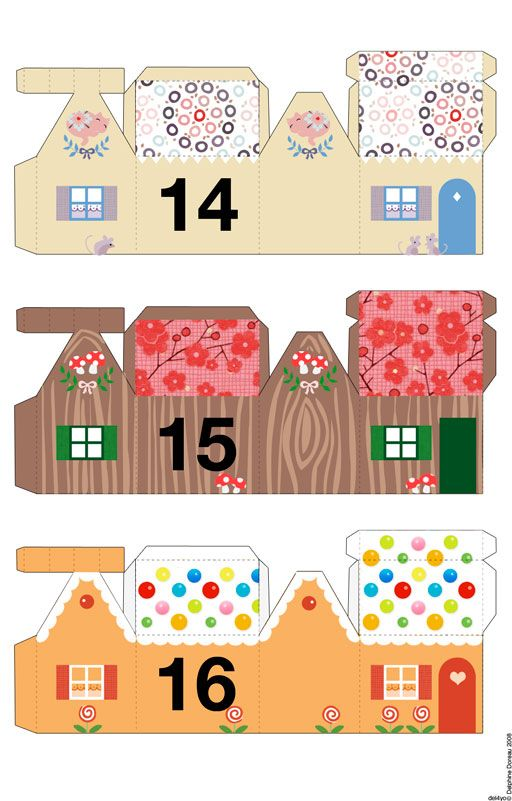 Cut-out village houses. To get the others, just change the numbers in the address bar. Great for advent!