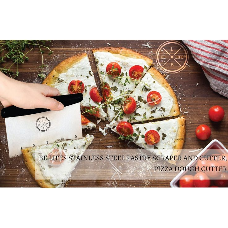 Be Lifes Pastry Cutter Stainless Steel - Multi-Purpose Pizza Dough Cutter - Bench Knife - Vegetables/ Nut Chopper - Pastry Scraper and Cutter
