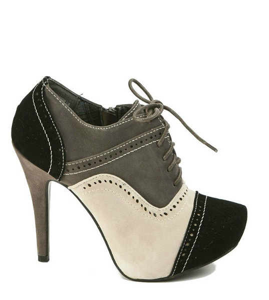 Bootie - Saddle Shoe Chic - Poodle Grey