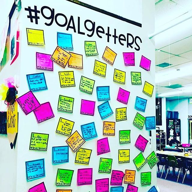 Goal Getter Wall With Student Goals