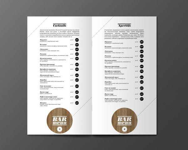 45+ inspiring examples of restaurant menu design
