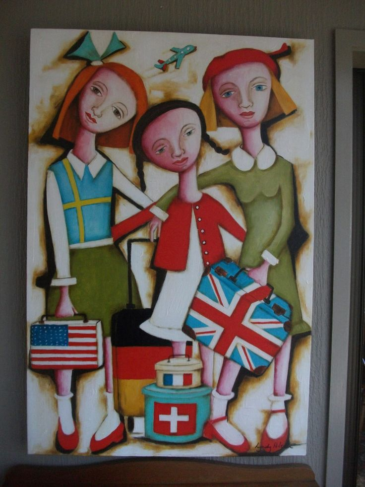 Quirky Fiqureative Painting by Lyndy Wilson