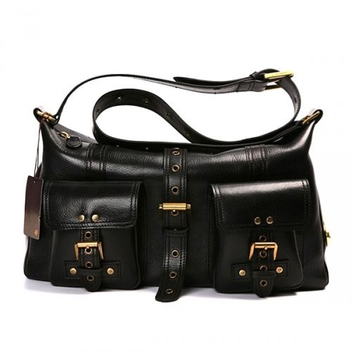 Beautiful Mulberry Women Roxanne Leathers Satchel Black Bag For £184.79