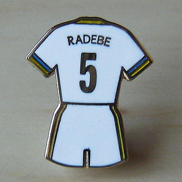 LUCAS RADEBE HOME KIT BADGE - LEEDS UNITED FOOTBALL PIN BADGE