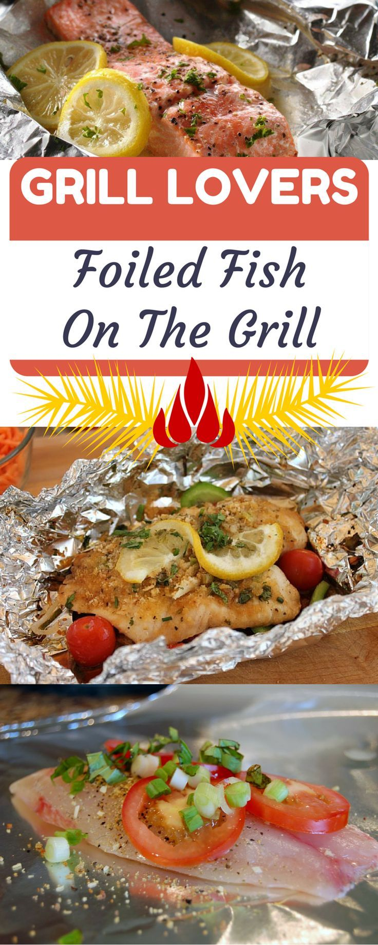 Cook fish on the grill with this recipe. A great summer meal. Now that's healthy eating at it's best!