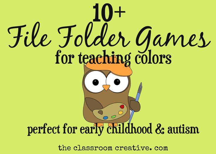 #teaching #file folders #colors #Autism