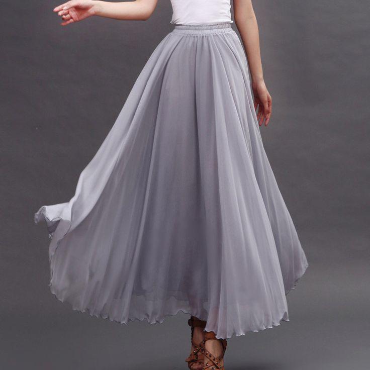 25  best ideas about Chiffon maxi skirts on Pinterest   Diy maxi ...
