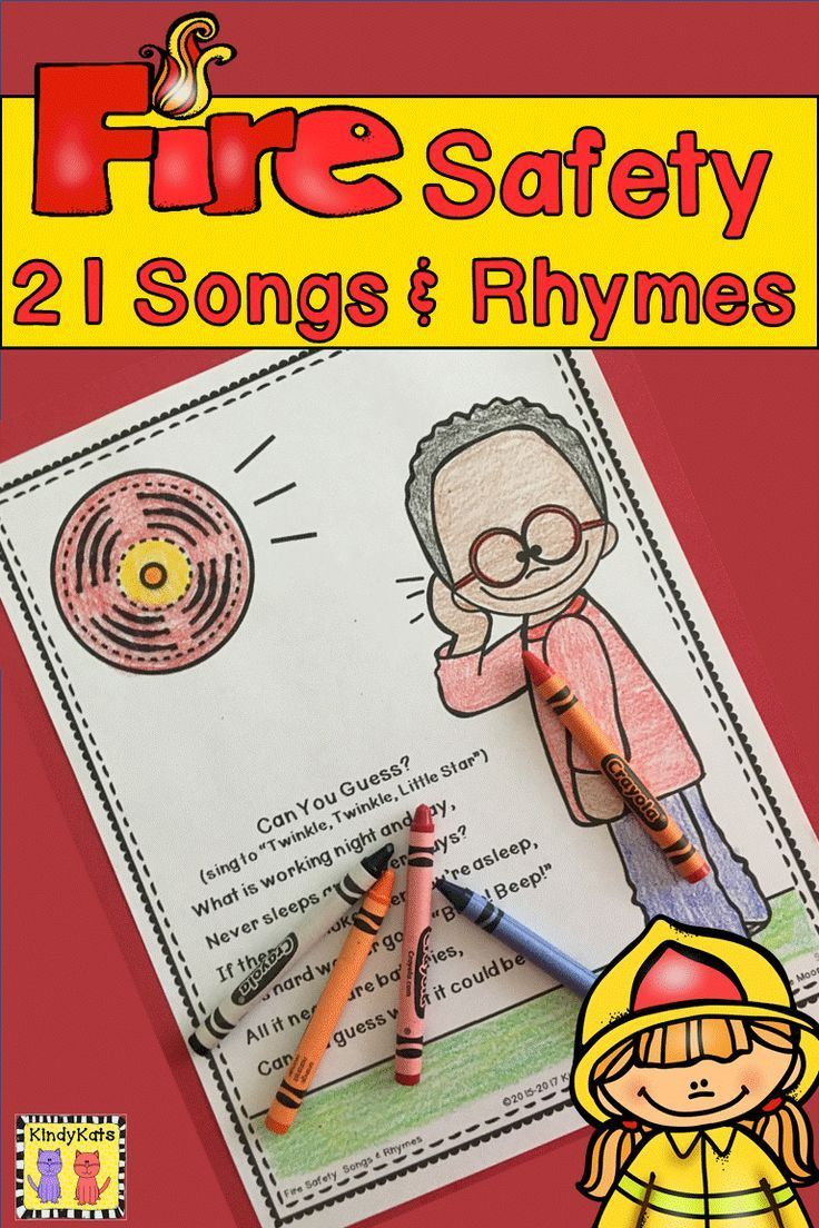 Fire Safety Songs and Rhymes Fire safety, Songs, Notes