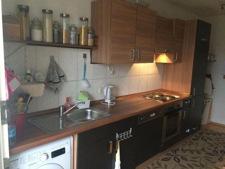 Wir verkaufen eine 360 cm breit mit Spüle, Geschirrspüler Kühlschrank ,und Backöfen (ohne...,Einbau-Küche gebraucht 360 cm breit mit Esstisch in Wuppertal - Elberfeld