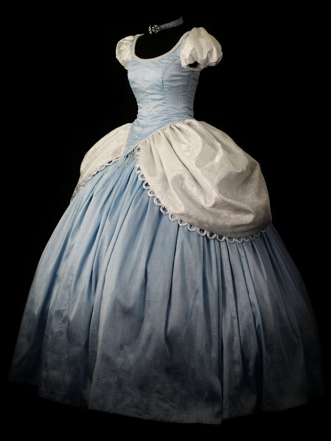 Adult Silk Deluxe Cinderella Costume Custom by NeverbugCreations - Again, I have no intention of ever cosplaying the character, but this Cinderella gown is fabulous.