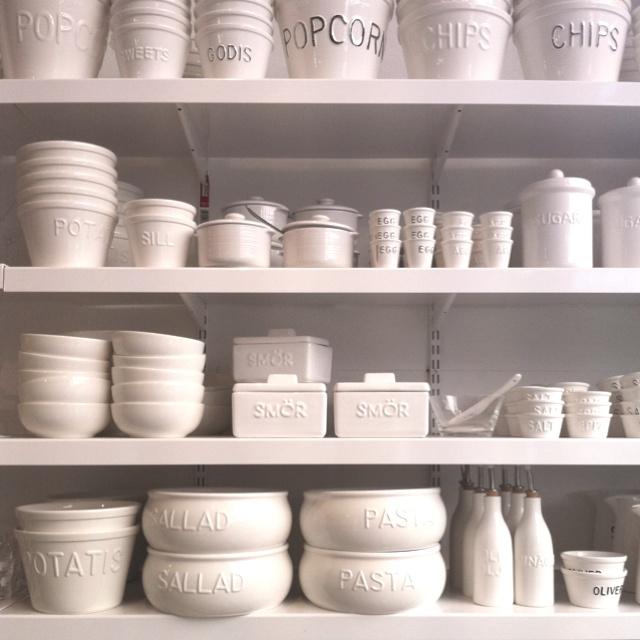 Want all these white ceramic dishes! @ Bruka Design
