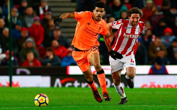 Download wallpapers Dominic Solanke, 4k, Liverpool, footballers, match, soccer, Solanke, Premier League, FC Liverpool