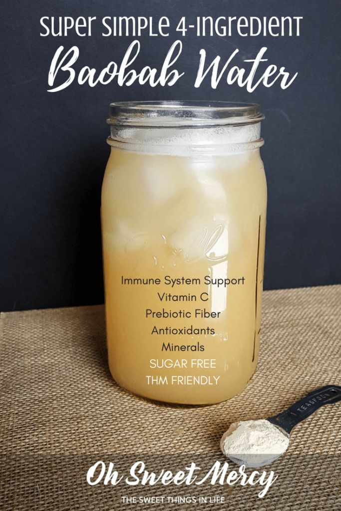 My Super Simple Baobab Water has just 4 healthy in…Edit description