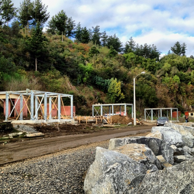 Current reconstruction efforts in Dichato, Chile.