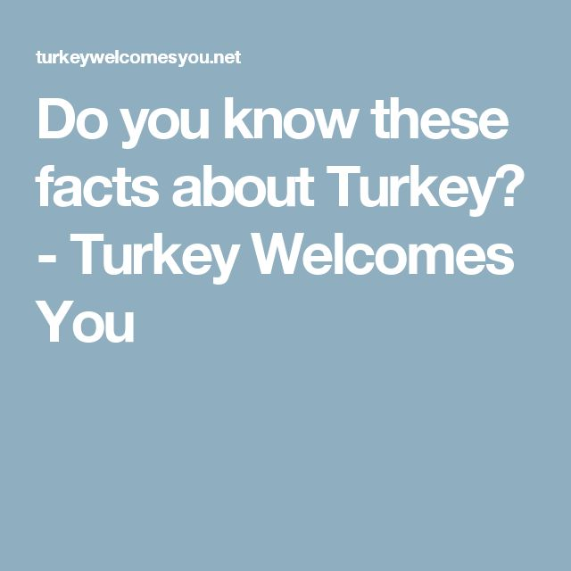 Do you know these facts about Turkey? - Turkey Welcomes You