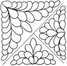 218 best Tűzések images on Pinterest | Hand quilting patterns ... : feather quilting stencils - Adamdwight.com