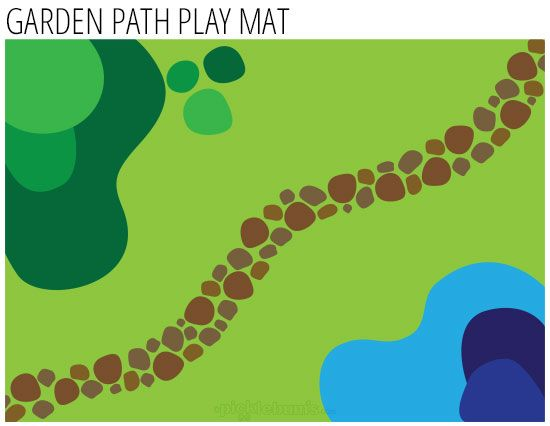 free printable imaginative play mat - Garden Path