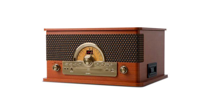 Superior LP:ION AUDIO / Superior LP(スペリオール・エルピー)は、昭和時代のアンサンブルステレオを意識したレトロ調のボティに、レコードプレーヤーやカセットテーププレーヤー、CDプレーヤー、ラジオチューナー、USBメモリ内の音楽ファイル再生、Bluetooth受信機能や外部入力端子、高音質内蔵スピーカーを備えた、オールインワンのミュージックプレーヤーです。これ1台で、アナログレコードやカセットテープの再生、スマートフォンからワイヤレスでの音楽再生など、様々なオーディオ再生を楽しめる、最新のプレーヤーです。 #Design #プレーヤー #マルチ