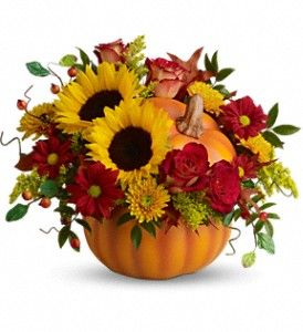 Teleflora's Pretty Pumpkin Bouquet  http://www.flowersbypatllc.com/massillon-flowers/telefloras-pretty-pumpkin-bouquet-417730p.asp?rcid=90&point=1