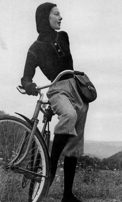 Cold Weather Cycling Ensemble by Claire McCardell 1940s. Loving the bloomers!