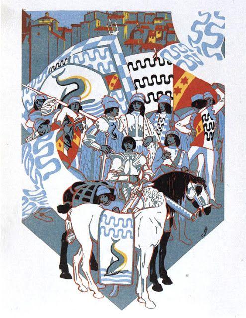 Duilio Cambellotti (1929 e 1930) - Comparsa della Contrada Capitana dell'Onda
