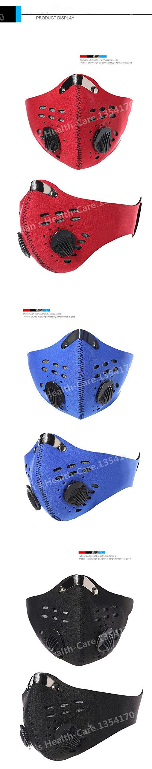 Puraid(TM) Activated Carbon Dust Face Mask Outdoor Sports for Men and Women Bicycle/Motorcycle Face Protection Winter Mouth Mask. Size:54*26cm. Putting it in the warm water(about 30 degrees) for 15 mins before using!. hot sale. 100% brand new. High quality.