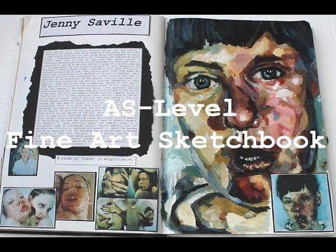 AS Level Art Sketchbook - Grade A - YouTube