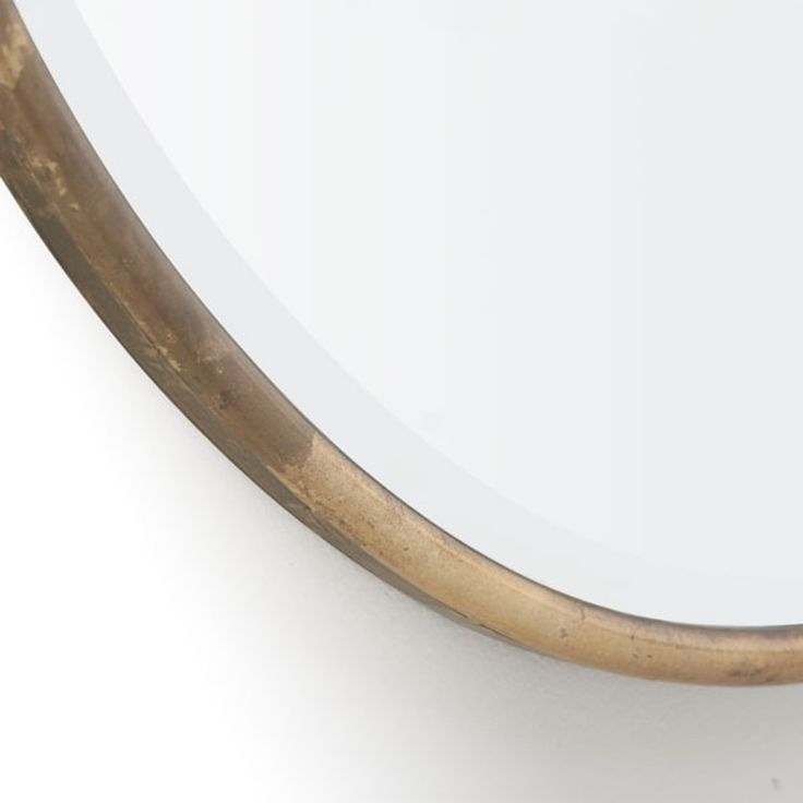"""Gilt Minimalist Mirror. this is 38"""" x 38"""". I could see this replacing the large rectangle over the sofa."""
