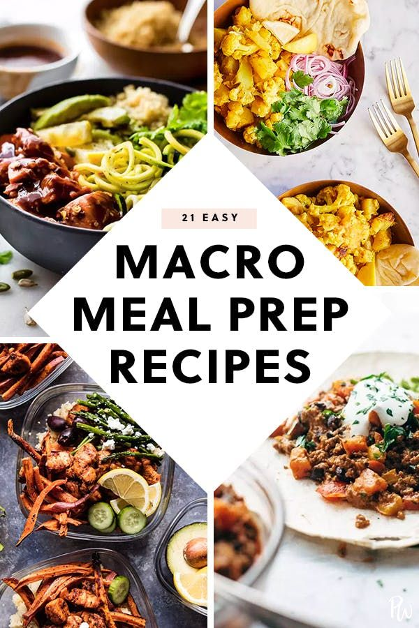 21 Macro Recipes That Are Meal Prep Friendly Macro Meals Health Dinner Recipes Macro Meal Plan