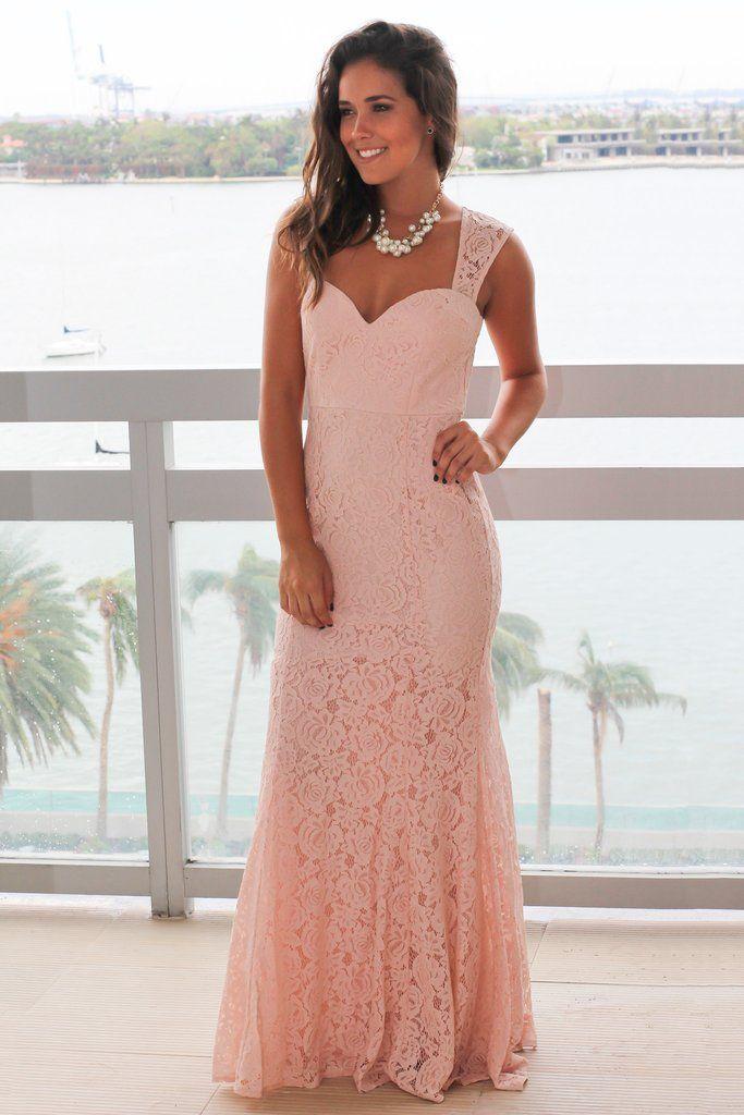 e84be0eca76 Blush Lace Maxi Dress