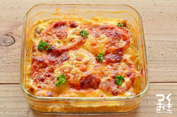 混ぜ合わせて焼くだけの簡単で美味しいおかず。チーズの量はお好みで調整してください。おもてなしの1品にもオススメです。冷蔵保存5日