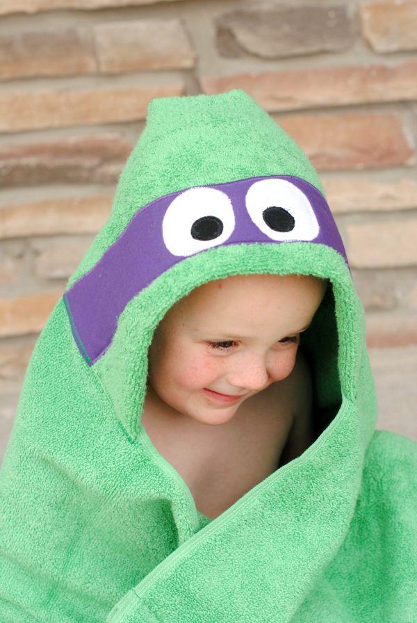 La toalla favorita de temporada para los pequeños. #toalla #diy #tortuga