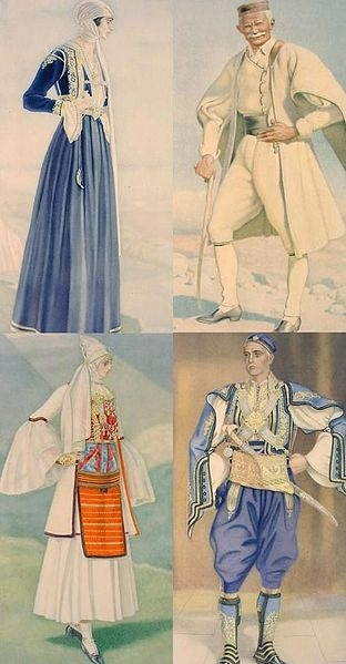 Greek costumes in Northern Epirus