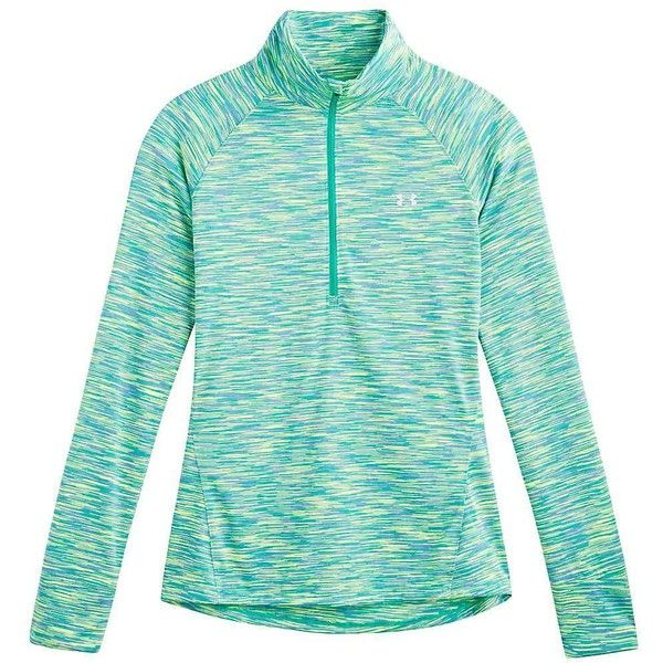 Under Armour Women's Tech 1/4 Zip Top ($45) ❤ liked on Polyvore featuring activewear, activewear tops, athletic, jackets, tops, under armour sportswear, under armour, tail activewear, logo sportswear and athletic sportswear