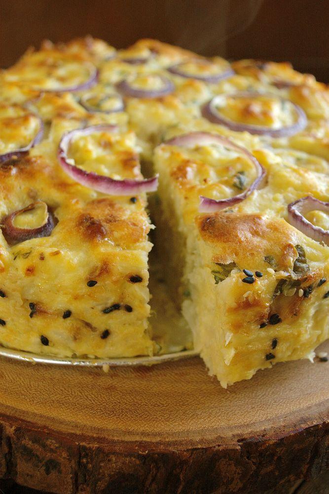 Blumenkohlkuchen mit Pecorino Romano & Basilikum   – Vegetarian/Vegan Summer & Winter Recipes