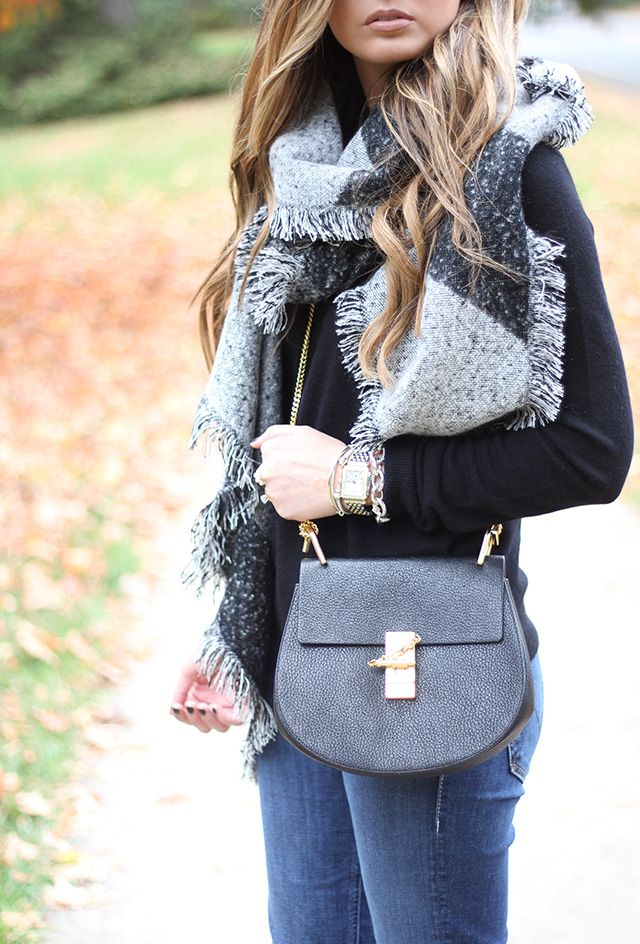 Cashmere Sweater + Blanket Scarf