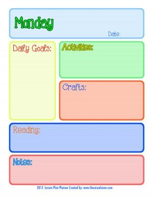 A cute little lesson plan! Great for toddlers.