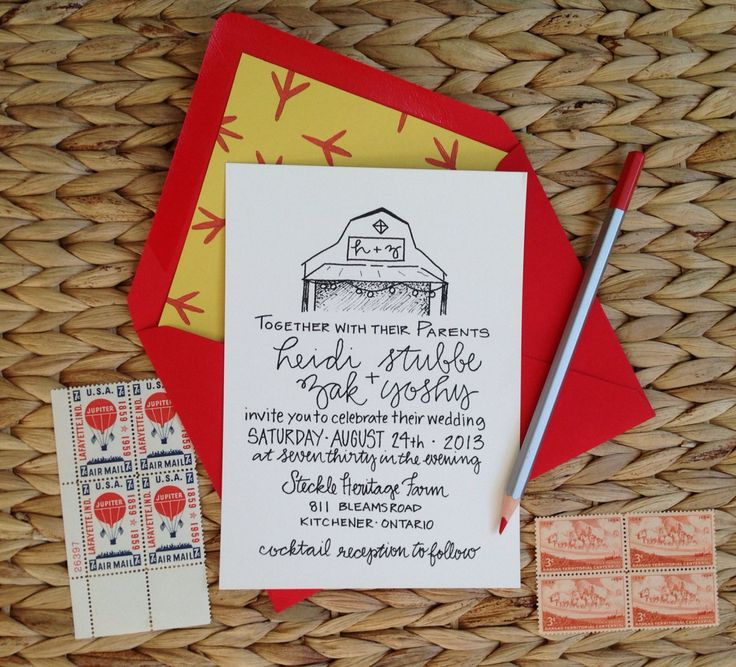 Barn Wedding Invitations / Rustic Wedding Invitation Suite / Shabby Chic  Invitation Set / Kraft And Lace Wedding Invitation / Kraft Paper