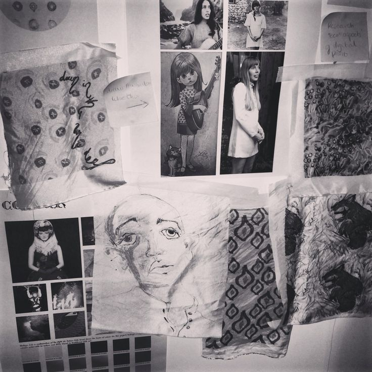 Research boards and fabric samples