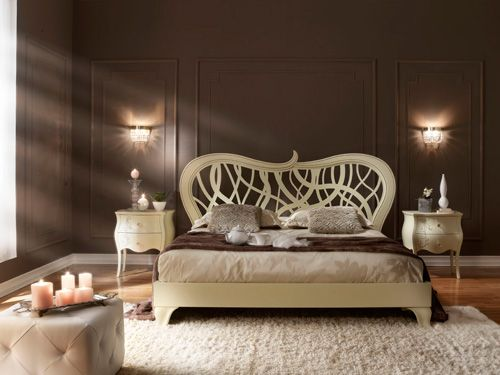 love the headboard: Colour, Wall Colors, Contemporary Romances, Romantic Bedrooms, Carvings Headboards, Bedside Cabinets, Bedrooms Inspiration, Bedrooms Decor Ideas, Curves