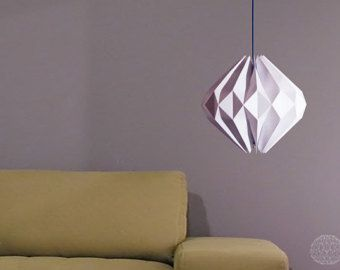 origami lamp: Vanilla Diamond by DanielleOrigamiLamps on Etsy