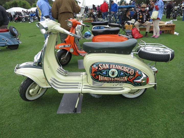 Spotted this beautiful custom scooter that we created for a Bello Moto customer! Whether for personal or business use, we can create a personalized scooter for you too! #VespaHobby #VintageCollector #Scooterholic #RestoredScooter #SanFrancisco #SFYelp #SFLove #SFBucketlist #CustomScooter #VintageScooterStore #RestoredScooter #VintageScooterServices #ItalianClassic #VintageScooter #VespaHobby