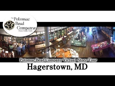 Bead Store Virtual Tour - Hagerstown MD - YouTube  Potomac bead company has hundreds of tutorials on  YouTube and tens of thousands of products (gemstones, crystals, glass, seed beads, pendants, silver, findings, tools & more) in retail bead stores and on TheBeadCo.com! http://www.potomacbeads.com http://www.thebeadco.com