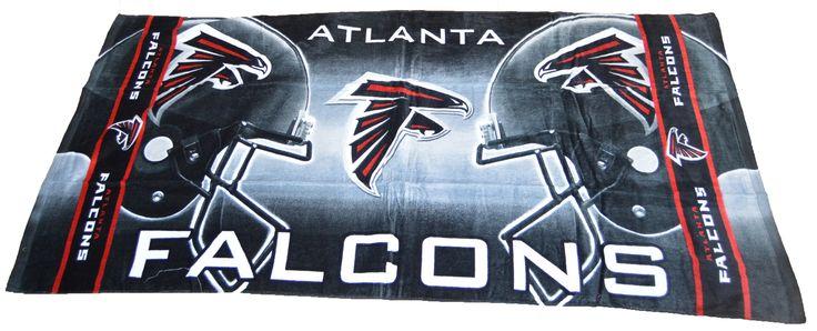 "Authentic Licensed NFL Atlanta Falcons 2 Helmet Beach Dorm Bath Towel 30"" X 60"""
